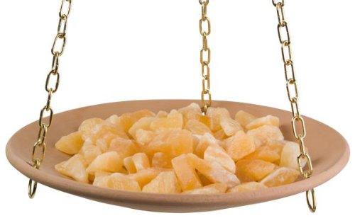 HOFMEISTER® Flache Duftschale, Orangencalcit-Kristallen und Zierkette