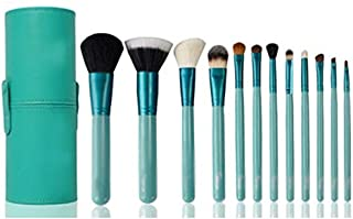 Other Pro Makeup Brushes 12Pcs Kit In Cup Holder Case - Turquoise