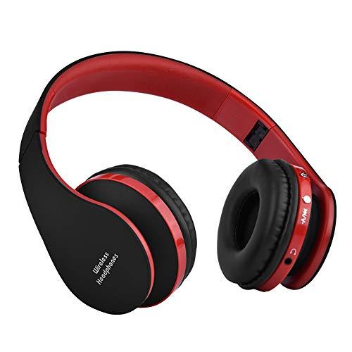 Dpofirs Auriculares de Casco Inalámbricos Bluetooth 4.0, Auriculares Plegables y Portátiles para...