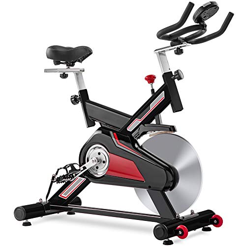 Upgraded Stationary Indoor Cycling Bike with 22 LB Flywheel and Felt Resistance Home Gym Spin Exercise Bikes with LCD Monitor and Comfortable Seat Cushion for Cardio Workout Max Weight 330 LB -  Dreamact