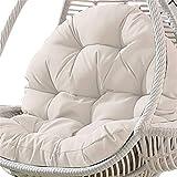 Ecisi Hanging Egg Chair hamac Coussins sans Pied, Non Toxiques Chaise épais Fauteuil de Coton Tapis Grand Tapis de Chaise Oeuf Suspendu, balançoire Suspendue Panier Coussin de siège