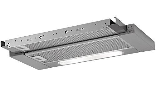 AEG DPB3631M Flachschirm-Dunstabzugshaube / Abluft oder Umluft / 60cm / Grau / max. 308 m³/h / min. 59 – max. 65 dB(A) / C / Kurzhubtasten