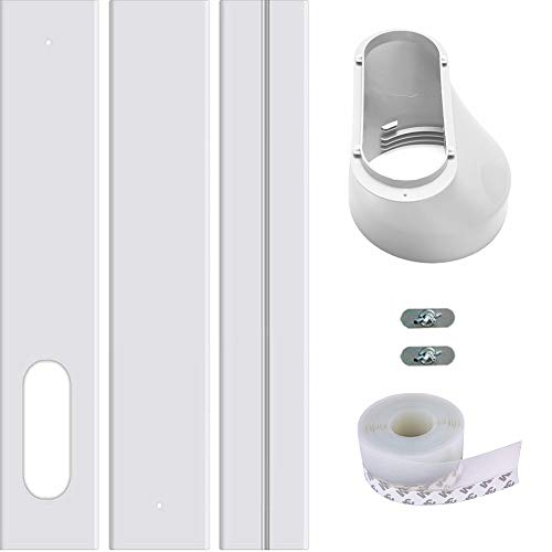 ANTFEES Portable Air Conditioner Replacement Window Vent Kit Plate,Adjustable Length Sliding Glass Doors AC Vent Kit for 15cm/5.9