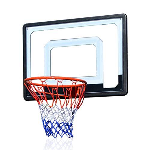 Aro De Baloncesto para Colgar En El Hogar De Los Niños, Aro De Baloncesto Al Aire Libre En La Puerta Y Pared Exterior, Aro De Baloncesto De Tiro para Adultos,Azul,M