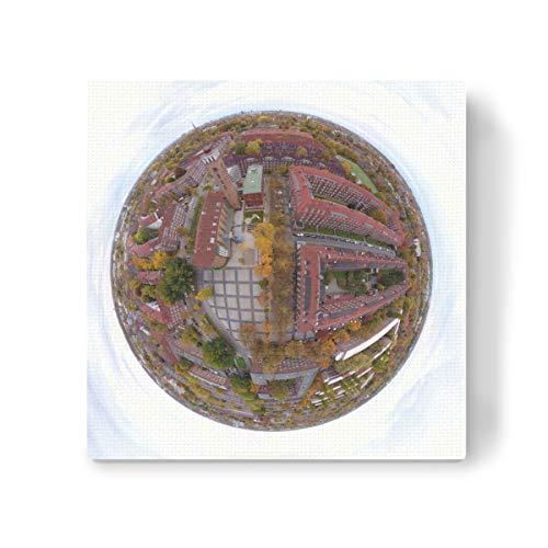 artboxONE Leinwand 40x40 cm Städte Straßburger Platz in HH-Dulsberg von Dienstleistungsdrohne.de