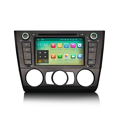 ERISIN Android 10.0 Estéreo de Automóvil para BMW Serie 1 E81 E82 E88 Soporte de 7 Pulgadas GPS Sat Nav Carplay Android Auto Bluetooth A2DP WiFi 4G DVB-T Dab + RDS Enlace Espejo TPMS SWC