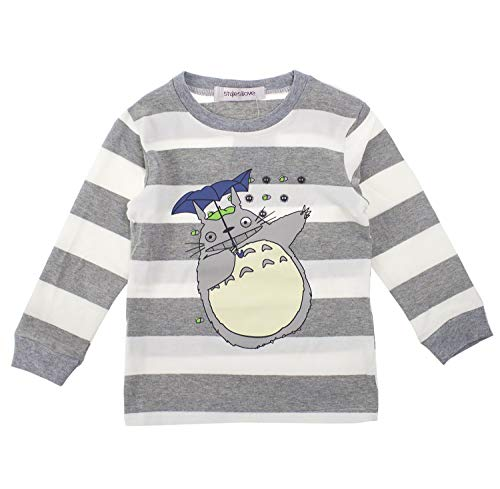 Styles I Love Unisex Baby Toddler Boys and Girls Striped Print Cotton Long Sleeve Top (Grey/Top, 90/2-3 Years)