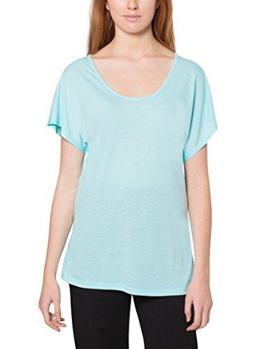 Ultrasport Camiseta de Yoga para Mujer Light Action - Camiseta Suelta de Mujer con Cuello Redondo Camiseta Deportiva de Mujer Holgada con Manga Corta, Verde, XS