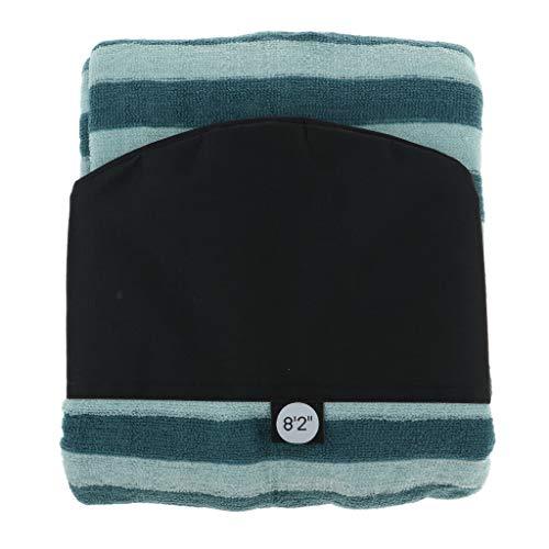Homyl Cubiertas de Tablas de Surf Multifuncional de Rayas Verdes - 8.2 pies