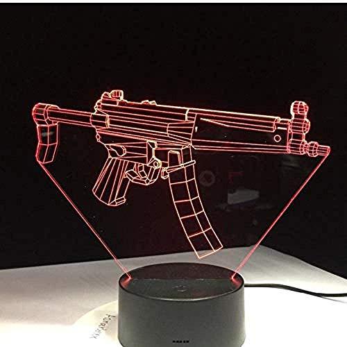 Legendary Scar Scar Rifle Battle Royale 3D-Lichter 7 Farben Ändern Sie Weihnachtsgeschenke für Fans von Einrichtungsspielen in Schlafzimmern