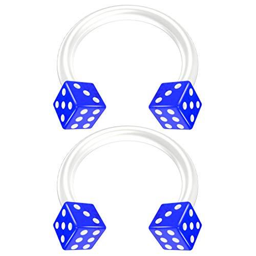 Bling Piercing BQCBHSBFXDICEAC16G-BLU