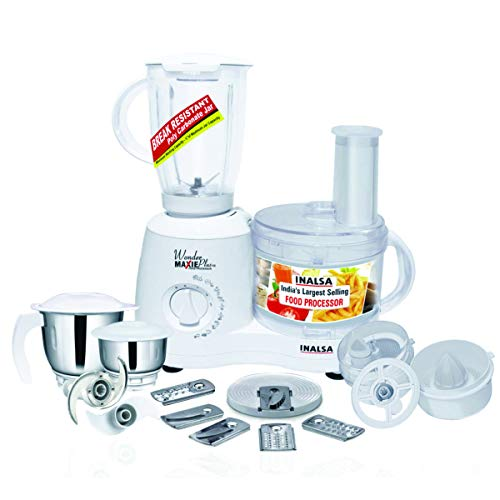 Inalsa Food Processor Wonder Maxie Plus V2 700 - Watt with Blender...