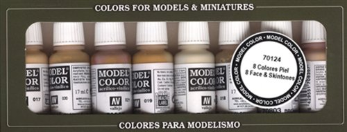 Vallejo Model Color - Set de pintura acrílica (8 unidades, 17 ml), multicolor