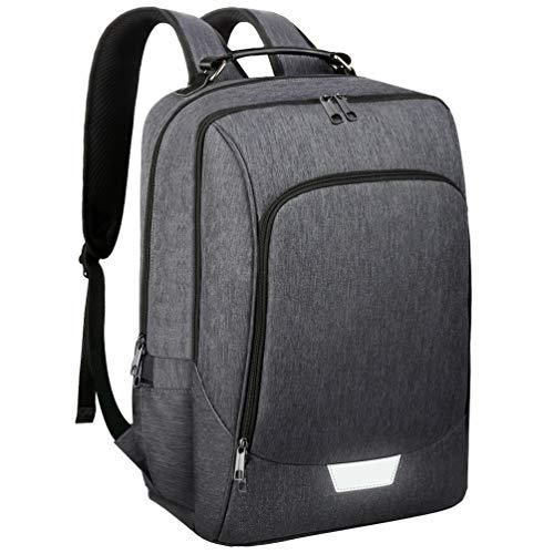 Vbiger Laptop Rucksack Herren 15.6 Zoll Unisex Business laptoprucksack Anti-Diebstahl mit USB Ladeanschluss Daypack Schulerucksack Reiserucksack (grau-2)