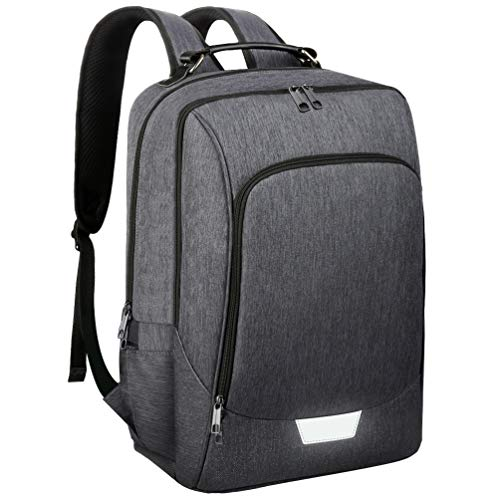 Vbiger Laptop Backpack 15.6 Inch Anti Theft Backpack Waterproof Rucksack for Travel Business School with USB Charging Port Grey