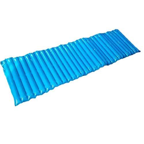 XKMY Colchoneta de camping suave para la playa, 200 x 60 x 5 cm, cojín al aire libre, camping, picnic, playa, colchonetas inflables al aire libre (color: azul, tamaño: 60 x 200 cm)