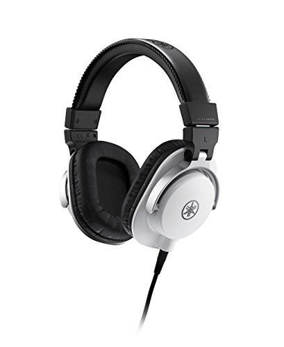 Yamaha HPH-MT5 Studio-Kopfhörer – Faltbare Monitor-Kopfhörer mit 3 m Kabel und 6,3 mm Standard-Stereo-Adapterstecker – Weiß