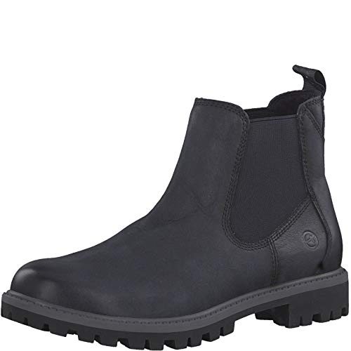 Tamaris Damen Stiefeletten 25401-23, Frauen Chelsea Boots, Ladies feminin elegant Women's Women Woman Freizeit leger Stiefel Lady,Navy,39 EU / 5.5 UK