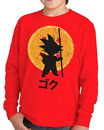 Camiseta Manga Larga de NIÑOS Dragon Ball Goku Vegeta Bolas de Dragon Super Saiyan 043 11-12 años