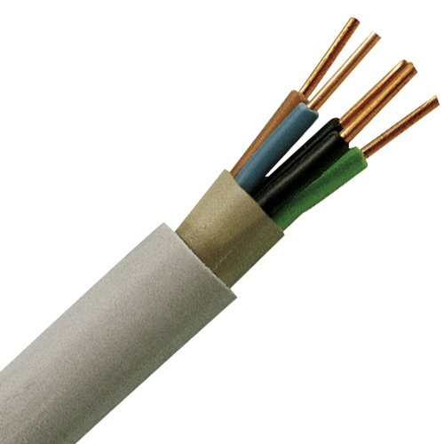Kopp 153005848 NYM-J 5 x 1,5 mm² Feuchtraum-Kabel, 5 m-Ring