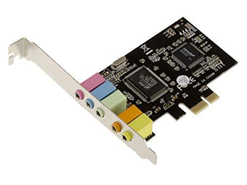 KALEA-INFORMATIQUE Scheda Audio Interna PCI Express PCIe 1x Surround 5.1 canali - CHIPSET : CMEDIA CMI8738 - con Staffa Low Profile (Basso Profilo).