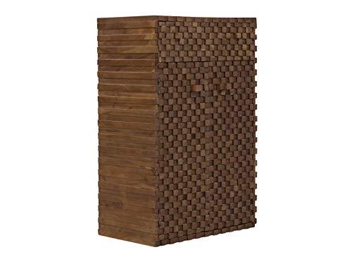 massivum Kommode Abadi 75x114x46 cm aus Akazie-Holz und Mango-Holz massiv braun lackiert mit 2 Türen