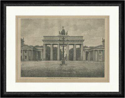 Kunstdruck Das Brandenburger Tor in Berlin Einzugstor Siegreiche Truppen Faksimile_E 23730