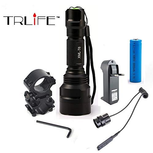 TRLIFE Linterna LED XML-T6 8000LM C8 Aluminio 5 Modos