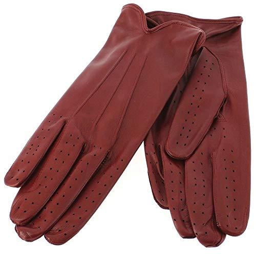 Guanti di Arcucci - Gant Cuir Rouge Luxe, Agneau, Fait Main En Italie - 9-1/2-24.1cm - XL