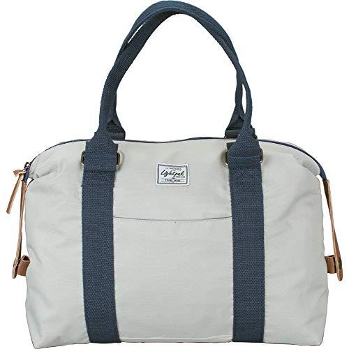 Lightpak Damentasche SWEETBOX, Damen Handtasche aus Polyester, Henkeltasche mit separatem Handyfach Tote da palestra 36 centimeters Bianco (Beige)
