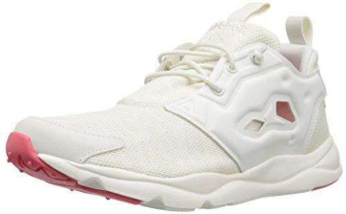 Reebok Women's Furylite Sole Running Shoe, Classic White/Chalk/White/Fire Coral, 8 M US