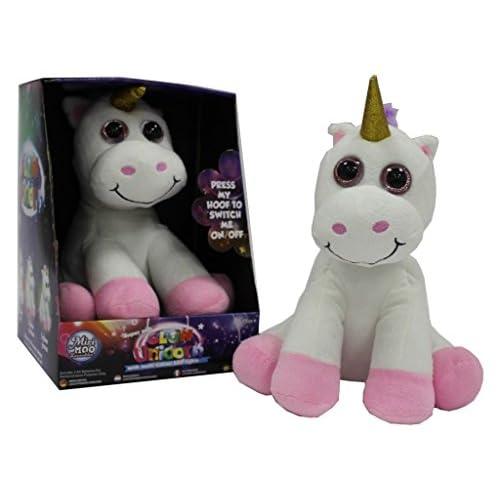 Miri Moo Super soffice Luminoso Unicorno Teddy Multicolore Cambiando Luce Notturna LED