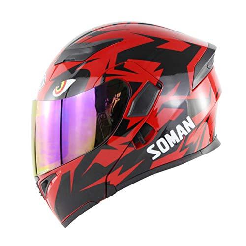 Modularer Motorradhelm Visier Street Racing Motorrad Klapphelm Motorradhelm Casco Motorhelm DOT Zulassung