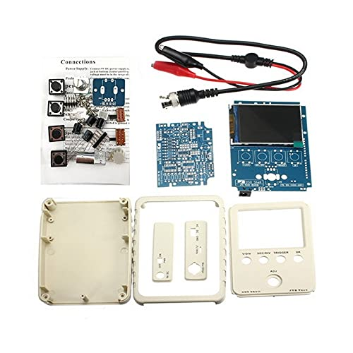 Yuqiyu Pantalla portátil Mini Digital Osciloscopio Toque Pantalla de Contacto portátil USB de la Interfaz de osciloscopio 2MHz 5MSPS Probe estándar (Color : DSO150 with BNC DIY)
