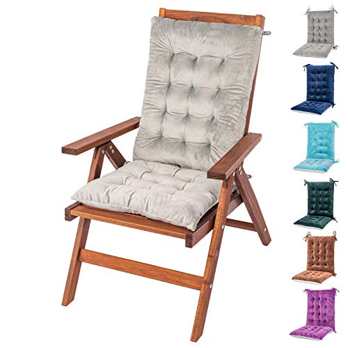 Rocking Chair Cushion and Pads, Chair Cushions, Back and Seat Cushion for Desk Chair, Dining Chairs, Kitchen Chair, Lounge Chair (Grey, Flannel 1)