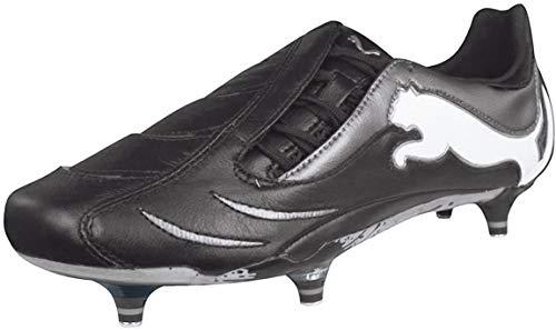 PUMA Powercat 1.10 SG Mens Leather Soccer Boots/Cleats-Black-9.5