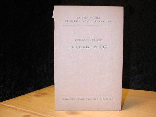 Schöninghs französische Lesebogen ; Nr. 14 L´ auberge rouge