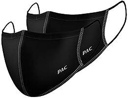 P.A.C. Lightweight 2er-Pack Premium Community-Maske, Mund- & Nasenmaske, Behelfsmaske, superdünne Alltagsmaske, Waschbar...