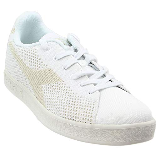 Diadora Mens Game Weave Casual Sneakers, White, 9.5