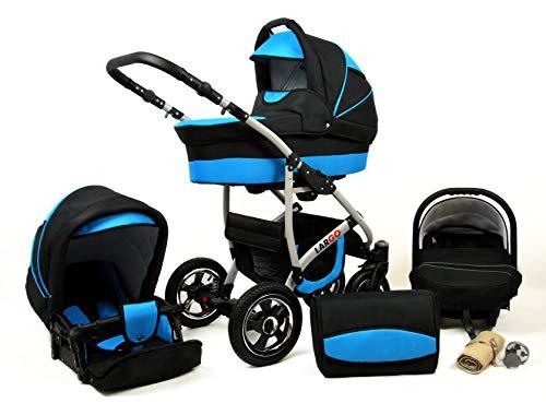 Cochecito de bebe 3 en 1 2 en 1 Trio Isofix silla de paseo New L-GO 2 by SaintBaby Chilly Silver 3in1 con Silla de coche