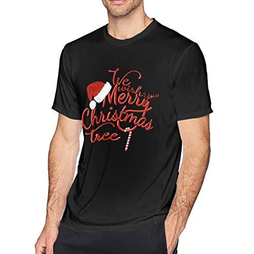 T-Shirt Unisex Fai-da-Te Rock We Wish You Merry Christmas Tree Nero 6X-Large