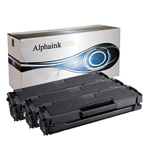 3 Toner Alphaink Compatibile con Samsung MLT-D101 versione da 1500 copie per stampanti Samsung ML-2160 2161 2162 2164 2165 2168 3400 SCX-3400 3401 3405 SF-760 765