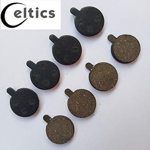 celtics 4 Paar Bremsbeläge für Fahrrad Zoom DB350 DB280 DB450 DB550 halbmetallisches Harz
