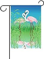 フラッグ 愛のフラミンゴの生活は、屋外の家の庭の植木鉢の装飾のためのレイクガーデンフラグバナー 30 x 45cmでより良いです