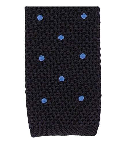 Michelsons of London Marine/bleu de tache de conception cravate de