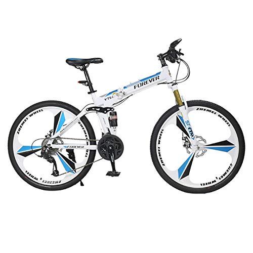 NZ-Children's bicycles Bicicleta de montaña de 26 Pulgadas, 27 velocidades, Unisex, Freno...