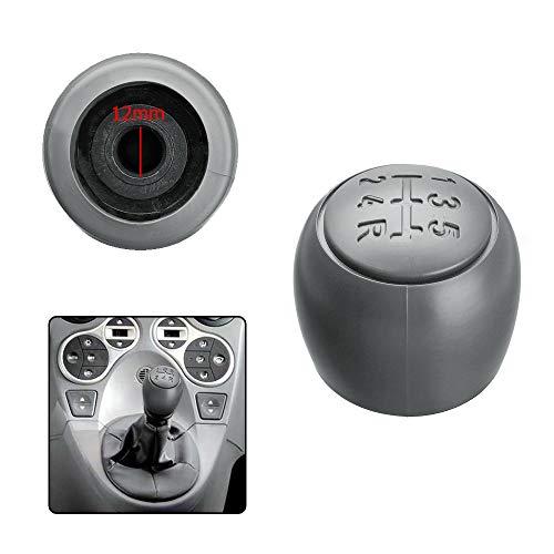 1neiSmartech Pomello Leva Cambio Manuale 5 Marce Ricambio Compatibile Per Auto Materiale Abs Manopola Leva Cambio 5 Velocità, Colore Grigio (Verificare Modelli Auto Compatibili)