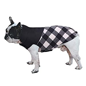 ASENKU Dog Winter Coat, Reversible Plaid Pet Jacket, Waterproof Windproof Reflective Puppy Clothes for Cold Weather, Comfortable Outdoor & Indoor Apparel, Warm Cozy Vest for Small Medium Large Dogs