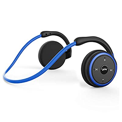Bluetooth Wireless Running Headphones, Zero Pressure Design Earphone with HiFi Stereo Sound, Clear Voice Capture Technology, Foldable Pocket Size for Gym/Yoga/Travel, Built-in Noise Cancelling Mic from Kamtron