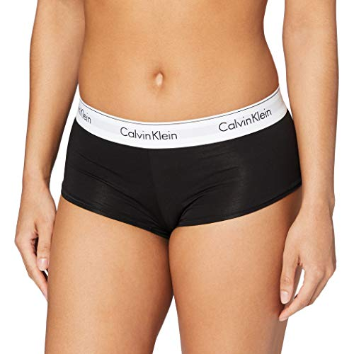 Calvin Klein Damen MODERN Cotton-Short Panties, Schwarz (Black 001), L